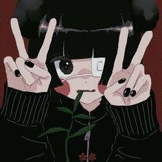 Cyberpunk Anime, Cartoon Icons, Dark Anime, Creepy Cute, Anime Art Girl, Aesthetic Anime, Pastel, Cute Art, Art Tutorials