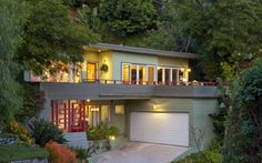roof top balcony two story mid century modern - Google Search