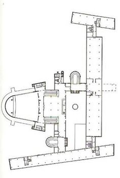 Salk Institute Structural Perspective Section of