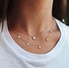 Jewerly necklace simple diamond jewels ideas for 2019 Dainty Jewelry, Cute Jewelry, Jewelry Box, Jewelry Accessories, Fashion Accessories, Jewelry Necklaces, Fashion Jewelry, Jewlery, Fashion Necklace