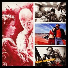 Natural Born Killers - un Filmone punto Mickey: The whole world's comin' to an end, Mal! Mallory: I see angels, Mickey. They're comin' down for us from heaven. And I see you ridin' a big red horse, and you're driving them horses, whippin' 'em, and the're spitting and frothing all 'long the mouth, and the're coming right at us. And I see the future, and there's no death, 'cause you and I, we're angels
