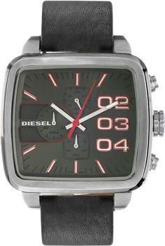 Diesel Chrono Franchise Uomo Orologio quadrato DZ4304 Nero Cinturino per,Questo è un orologio che si adattano a tutti gli uomini, si può indossare per tutte le occasioni formali come ti piace!