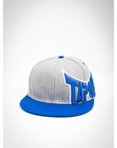 TapouT Thunder Grey and Blue Snapback Hat