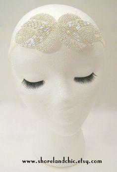 The Rita  silver art nouveau headband silver by ShorelandChic