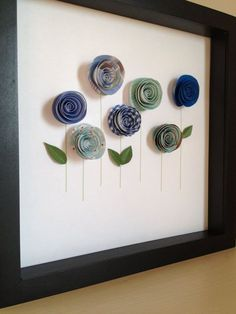Blue Rose Garden 3D Paper Art Customize with your by PaperLine, $35.00