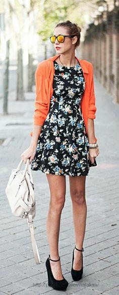Black #floral #dress