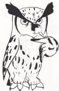 inktober inktober2017 2017 ink owl screech halloween art draw work