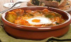 Receta de Almuerzo de media mañana Tostadas, Tapas, Eggs, Breakfast, Ethnic Recipes, Food, Gratin, Chicken Recipes, Lunches