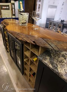 Charmant Live Edge Custom English Wych Elm Wood Countertop In Medina, Ohio Designed  For A Display At The Home And Garden Show, Finished With Durata® Waterproof  ...
