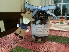 Cowboy baby shower favors