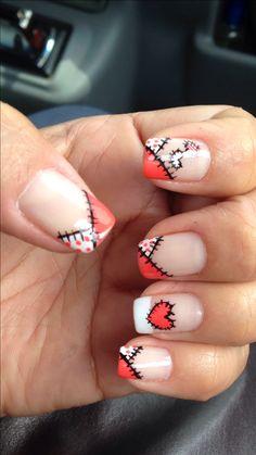 Beautiful Nail Designs, Beautiful Nail Art, Great Nails, Cute Nails, Nail Art Images, Crazy Nails, Manicure E Pedicure, French Nails, Nail Arts
