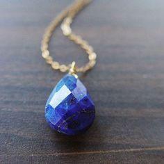Navy Lapis Necklace