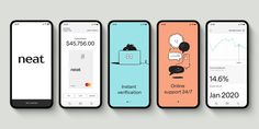 Ragged Edge rebrands Neat, a Hong Kong-based bank built specifically for small businesses — The Brand Identity App Ui Design, Mobile App Design, Mobile Web, Bank Branding, Page Layout Design, App Design Inspiration, Catalog Design, Animation, Brand Identity