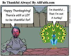 Be Thankful AllFaith.com Comix