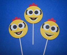 Chica Inspired Cupcake Picks (set of 12) $18 #chica #etsy #cupcake #party