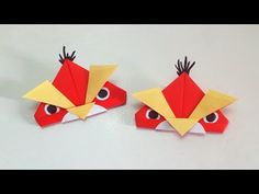 Angry birds star wars - origami paper angry birds – Paper angry birds easy diy instructions - YouTube