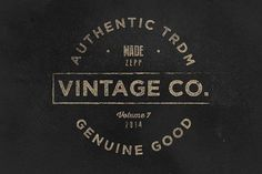 Vintage Labels & Logos Vol.7 by Zeppelin Graphics on @creativemarket
