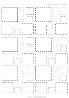 Preschool Writing, Kindergarten Math Worksheets, Preschool Learning Activities, Preschool Lessons, Letter I Crafts, Tracing Shapes, Preschool Art Projects, Shapes Worksheets, Pre Writing