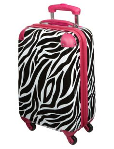 Zebra Print Hard Shell Suitcase | Girls Travel Luggage Accessories | Shop Justice