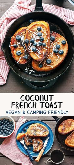 Here's an easy vegan camping breakfast idea: Banana and Coconut French Toast. Camping food that everyone can enjoy! via @freshoffthegrid