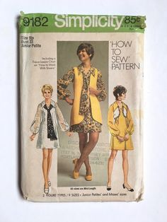 Vintage Sewing Pattern Women's 70's Partially by Freshandswanky