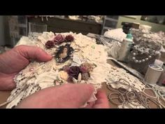 Shabby Chic Doily Wall Hanging! - YouTube