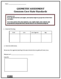 Heres a checklist using i can statements for the 4th grade common geometry 4th grade assessment ccss fandeluxe Image collections