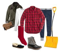 """""""wearing 1.25.16    the Big Dig....."""" by busyvp ❤ liked on Polyvore featuring мода, J.Crew, Barbour, Coldwater Creek, G.H. Bass & Co., Sperry Top-Sider, women's clothing, women's fashion, women и female"""