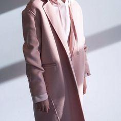 Pink.  Handmade coat 1580  Hoodie 1941  #BeOakandFort    #Regram via @oakandfort