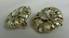Vintage Coro Aurora Borealis Rhinestone Flower by TheFashionDen, $18.00