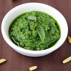 Pesto With Almonds Recipe | How to Make Pesto With Almonds | ItalianFoodsRecipes