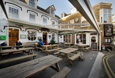 The Old Ship Hotel, Padstow Retractable Roof System Open