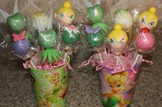 Tinker Bell cake pops