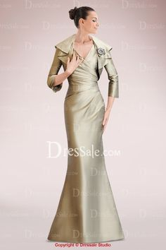 Compelling Taffeta Sheath Mother of Bride Dress with Matching Jacket