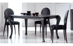 MESA DE COMEDOR VINTAGE. Elegante mesa de comedor extensible de pata chippendal