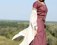 DISCOUNTED PRICE Medieval Linen Dress Archeress