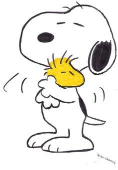 #Snoopy e il suo braccio destro #Woodstock, nome ispirato all'omonimo festival della musica di New York del 1969