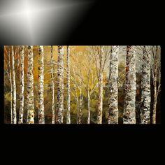 giclee of original painting forest art landscape Tatiana birch oil effect 41/100