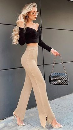 Business Casual Outfits, Cute Casual Outfits, Stylish Outfits, Girl Outfits, Indian Gowns Dresses, Elegantes Outfit, Looks Chic, Classy Casual, Look Fashion