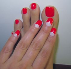 Mani Pedi Combos - Bright Red