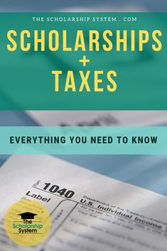 Paying for college with scholarships is an amazing opportunity, but many wonder, do you have to pay taxes on scholarships? Here's what you need to know. Apply For College, Apply For Student Loans, Grants For College, Financial Aid For College, College Dorms, College Hacks, College Life, College Tuition, College Dorm Essentials