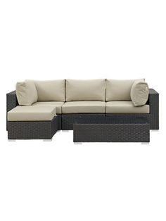 Sojourn Patio Sectional Set (5 PC) by Modway Outdoor at Gilt