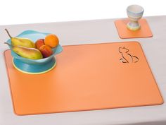 Cat Laser Cut Placemat For Kids Table Mat For Kids School Pad In Orange