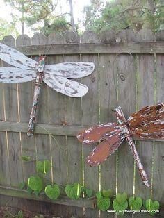 Repurposed ceiling fan blades!