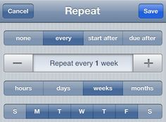 Omnifocus flexible weekly repeats.