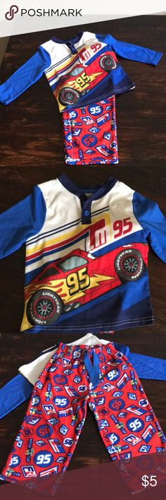 🎉3 for $10 Cars Fleece PJ Set Cute and warm pj. Set that features Disney's Cars lightning McQueen. No holes or stains. Disney Pajamas Pajama Sets