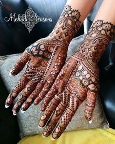 Henna is the most traditional part of weddings throughout India. Let us go through the best henna designs for your hands and feet! Floral Henna Designs, Latest Bridal Mehndi Designs, Mehndi Designs Book, Mehndi Design Pictures, Mehndi Designs For Beginners, Mehndi Designs For Girls, Unique Mehndi Designs, Wedding Mehndi Designs, Latest Mehndi Designs