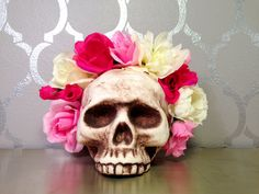 Hey, I found this really awesome Etsy listing at https://www.etsy.com/listing/227647359/pink-flower-crown-music-festival-frida