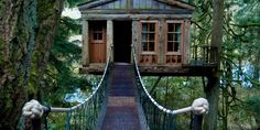 After watching the Treehouse Masters show, we have got to go check out the treehouse hotel at Treehouse Point -Issaquah, WA