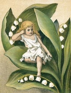 Victorian girl with lily-of-the-valley
